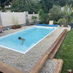 Realizacia bazena - Bazeny bauer - Rodinny dom zahrada
